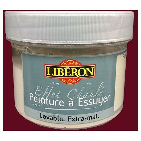 LIBÉRON Effet Chaulé Peinture à essuyer 0,25L Rouge carmin 0,25 L - Rouge carmin