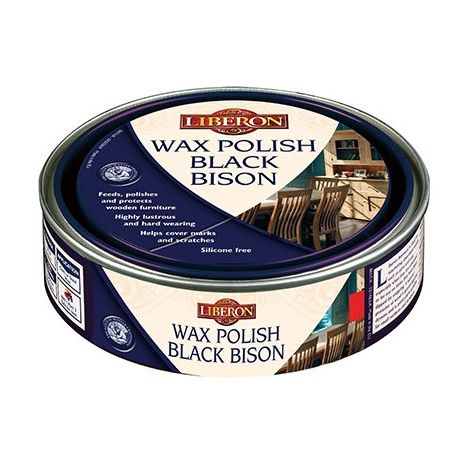 Liberon Furniture Wax Polish Black Bison Paste - All Colours - 500ml