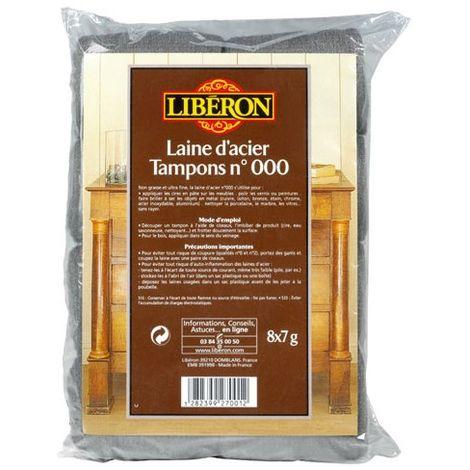LIBERON - Laine d'acier n°000 - 8x7 g