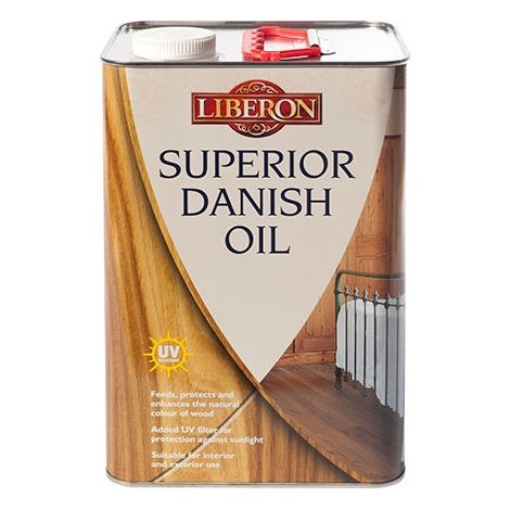 Liberon Superior Danish Oil - Enhances and Protects Wood - All Sizes