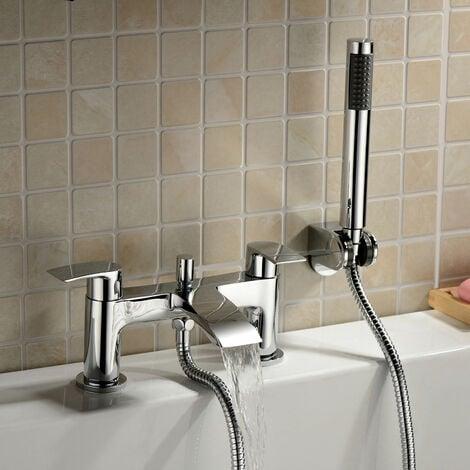 "main image of ""Libra Modern Bath Shower Mixer Tap Chrome"""