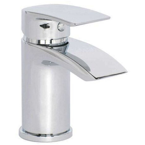 Libra Waterfall Cloakroom Tap Basin Mono Mixer Chrome Modern Design