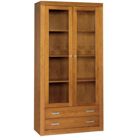 "main image of ""Libreria 2 puertas en madera maciza 151.5 cm(alto)100 cm(ancho)37 cm (largo)"""
