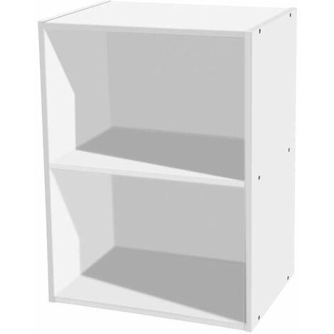 Libreria 2 ripiani 40 x 29 x 54 h cm bianco
