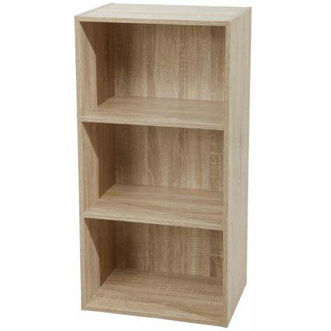 Libreria 3 ripiani 40 x 29 x 80 h cm naturale