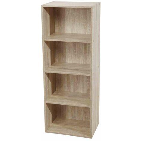 Libreria 4 ripiani 40 x 29 x 106 h cm naturale