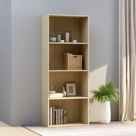 Libreria 4 Ripiani Rovere Sonoma 60x30x151,5 cm in Truciolato