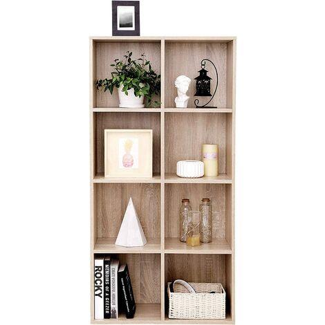 Libreria a 8 cubi scaffale in legno a ripiani armadio for Libreria ufficio