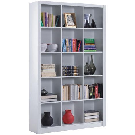 Libreria a Cubi Bianco in Lucido Legno a Giorno Moderna Mensole Scaffali Ufficio