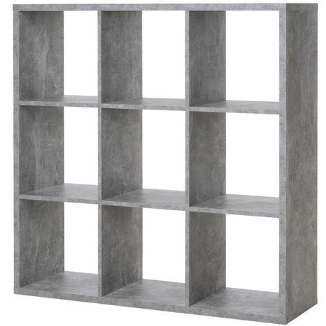 Cubi Di Legno Scaffale.Libreria A Cubi Giorno Cemento Moderna Mensole Legno Divisorio Scaffali Ufficio