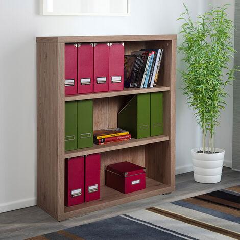 Librería baja vertical de madera 3 estantes diseño moderno Betty
