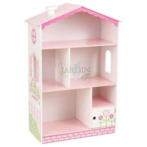 Librería casita de muñecas 67x30x97 cm