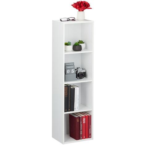 SDHYL Libreria con 3 Scomparti Aperti e 2 Ante Scaffale in Stile R/étro Armadietto da Terra Locker Mensola con Gambe in Legno per Soggiorno Ufficio Biblioteca