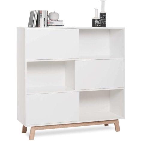 Libreria credenza moderna scaffale per ufficio con ante scorrevoli ...
