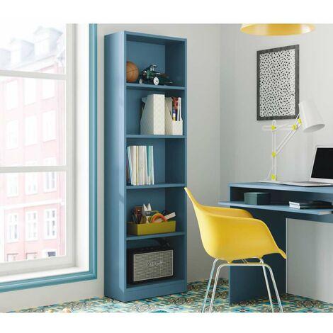 Libreria da terra Hugo B10 con 4 ripiani 52x25x180 Bianco