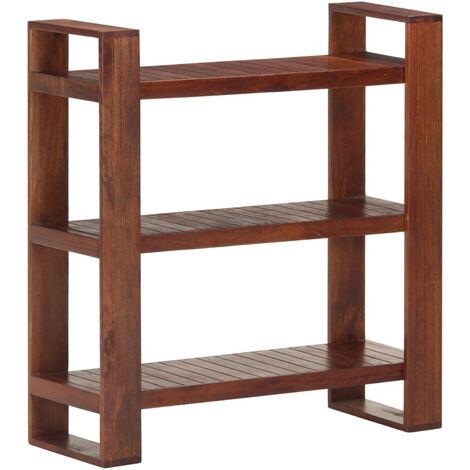 Libreria de madera maciza de acacia marron miel 84x30x90 cm