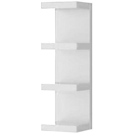Libreria design moderna con mensole da parete a pettine for Arredamento mensole a parete