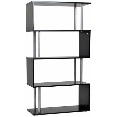 Libreria in legno a parete mobili ufficio scaffale nero for Mobili ufficio stock