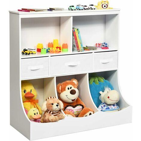 Librería infantil para niños Estante para Juguete Almacenamiento Organizador para Habitación Cuarto de Juegos