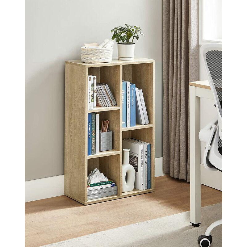 Libreria Mobile per Documenti Scaffale a Muro Colore Rovere/Bianco per  Soggiorno, Camera da Letto, Camera dei Bambini e Ufficio per Documenti,  Libri e ...