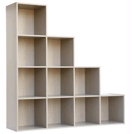 Libreria Mod.Cubo 10 Cm.121X29,5X121H Frassino