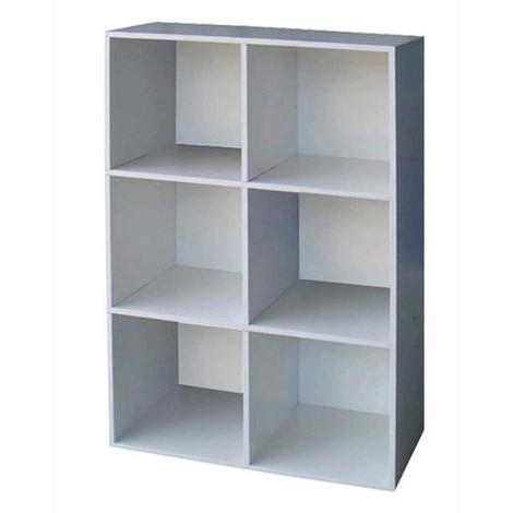 Libreria Mod.Cubo 6 Colore Bianco Cm.61X91