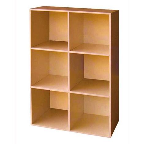 Libreria Mod.Cubo 6 Colore Ciliegio Cm.61X91