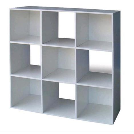 Libreria Mod.Cubo 9 Colore Bianco Cm.91X91