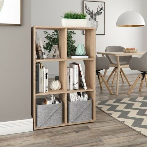 Libreria scaffale a cubi con 6 scomparti arredo ufficio for Arredo ufficio bianco