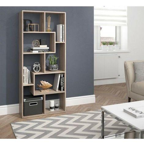Libreria scaffale in legno con 8 scomparti design moderno ...