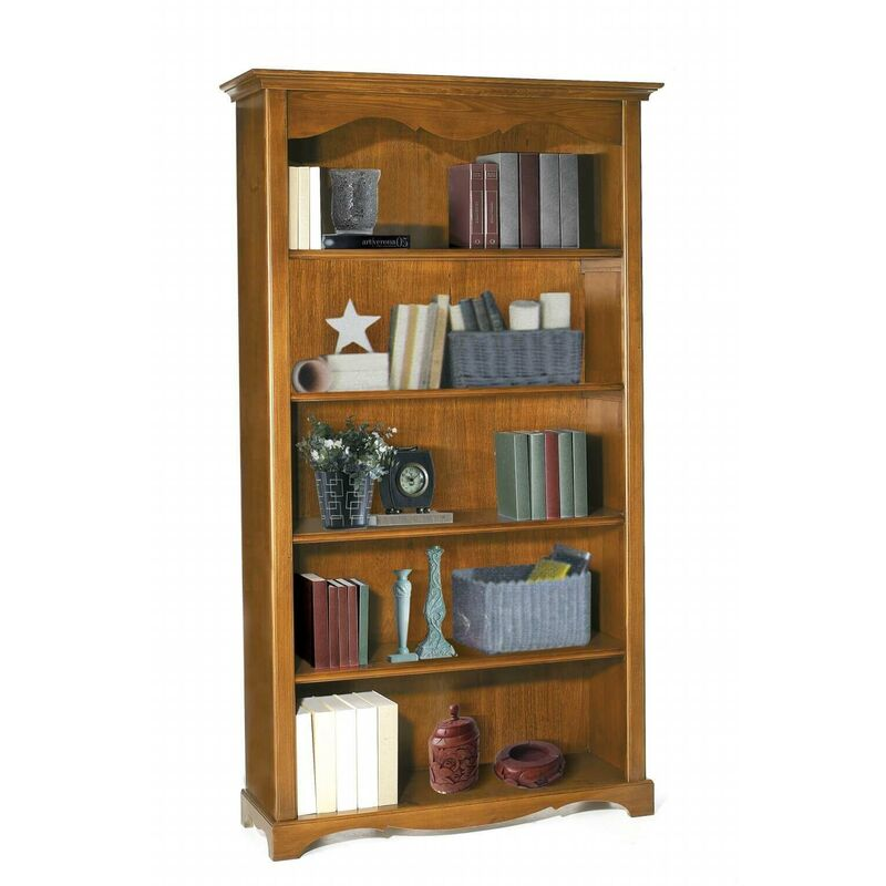 Libreria Tinta Noce 120 X 40 X 210 Per Interno Sala Da ...
