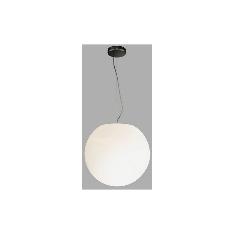 Licht-erlebnisse - Licht Erlebnisse Außen Pendelleuchte Weiß Kugel Ø30cm