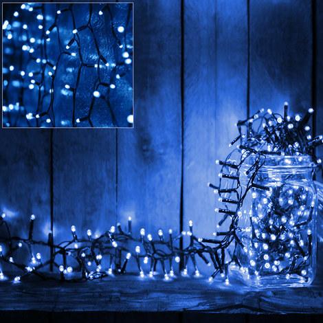 Weihnachtsbeleuchtung Mit Timer.Deuba 160 Led Lichterkette 11 5m I Blau I Batterie Timer I Für Innen Außen I 8 Funktionen Weihnachtsbeleuchtung Weihnachtsdekoration