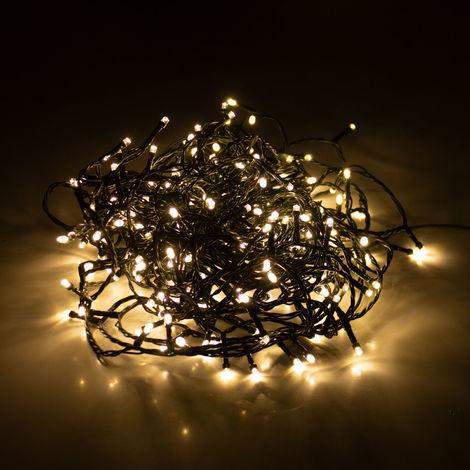 Weihnachtsbeleuchtung Für Innen Und Außen.Lichterkette Mit 240 Leds 18m 1800cm Warmweiß Ip44