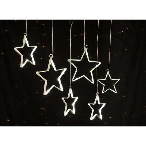 Lichterkette Sterne mit 5 Metall Sternen und jeweils 15 SMD LED
