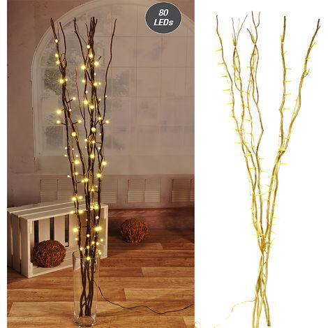 Lichterzweige gold mit 80 LEDs-D76109-Gold