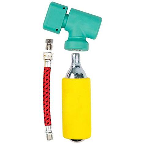 Licota Inflador Co2 Bicicleta Patinete Electrico + Bombona Gas 16Gr Y Regulador De Aire (Hinchador Universal Schrader/Presta)