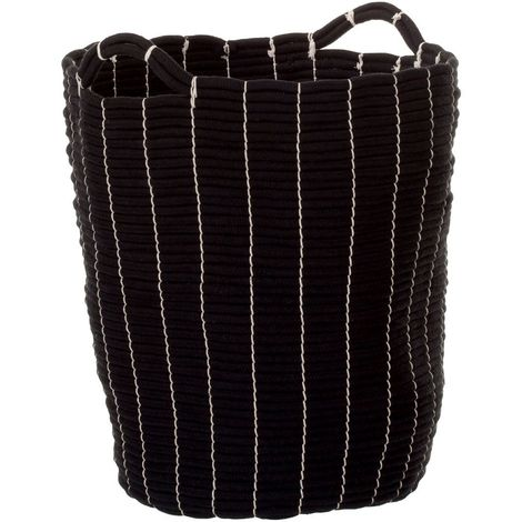 Lida Laundry Basket,Rope / Black,Handles