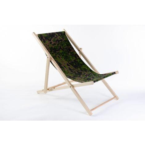 Liegestuhl aus Buchenholz klappbar, Strandstuhl, Sonnenliege, Gartenstuhl, Strandliege, stylisch, bequem, premium:braun