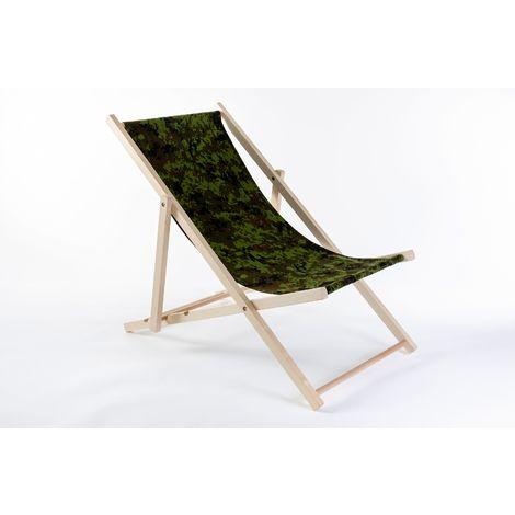 Liegestuhl aus Buchenholz klappbar, Strandstuhl, Sonnenliege, Gartenstuhl, Strandliege, stylisch, bequem, premium:hellgrün