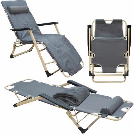 Liegestuhl Campingliege 178 cm Sonnenliege Gartenliege Liege Strandliege Stuhl