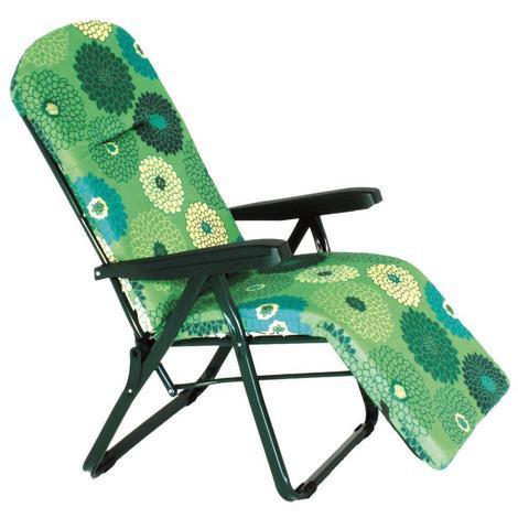 Liegestuhl mit verstellbarer Fußstütze in 6 Positionen entspannen Garten im  Frei