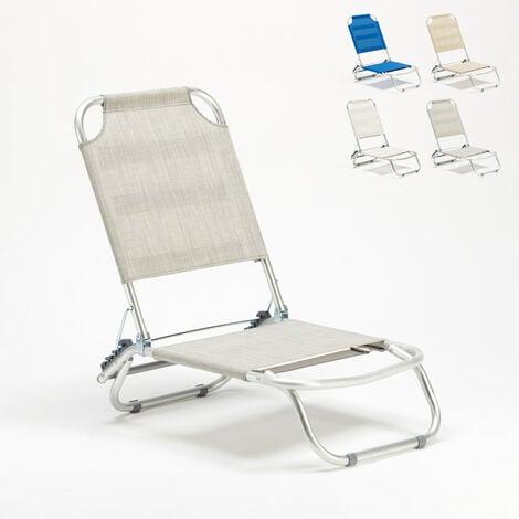 Liegestuhl Strandstuhl Klappbar Aluminium Sonnenliege Tropical