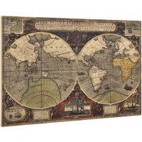 Lienzo enmarcardo para colgar en pared 80x120cm mapamundi Mapa del mundo