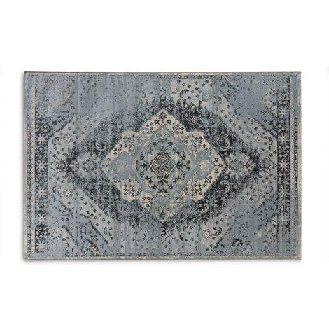 LIFA LIVING Aqua Vintage Teppich | Vintage Muster ...