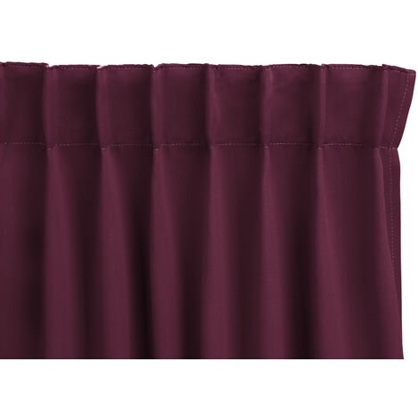 LIFA LIVING , Blickdichte & schalldämmende Vorhänge , Haken & Ring Anbringung , 250 x 150cm , (Grau, Ring)
