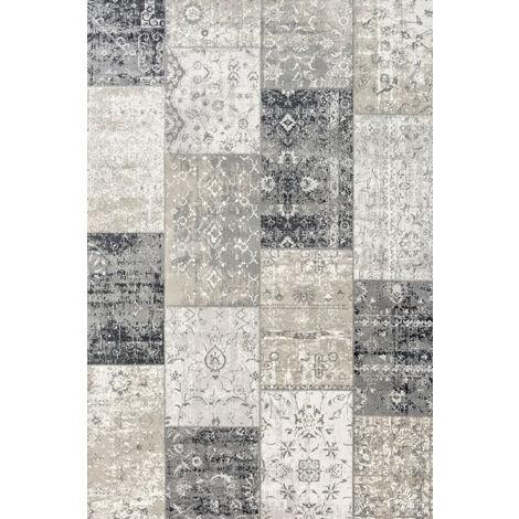 LIFA LIVING Patchwork Vintage Teppich , im schönen Vintage Muster , für Wohn- und Schlafzimmer , Farb und Größen Variationen