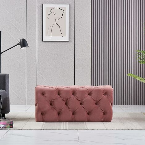 """main image of """"Life Interiors: Melia Velvet Small Rectangle Pouffe 