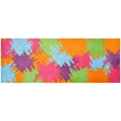 Lifestyle-Mat 200519 Tapis de Couloir Pop-Up, antidérapant et Lavable, idéal pour la Garde-Robe, la Cuisine ou la Chambre, 67 x 170 cm, Multicolore