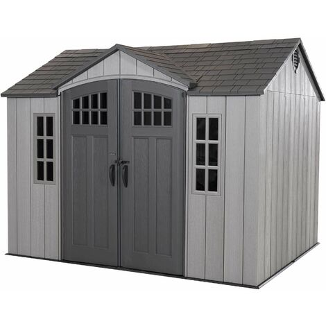 Lifetime 10 Ft. x 8 Ft. Outdoor Storage Shed - Brown